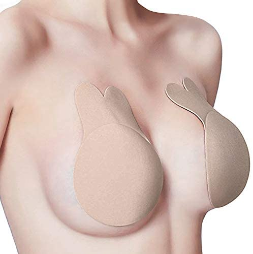 Rabbit Sticky Bra for Women Push up Strapless Backless Nipple Covers Adhesive Bra Breast Lift Pasties