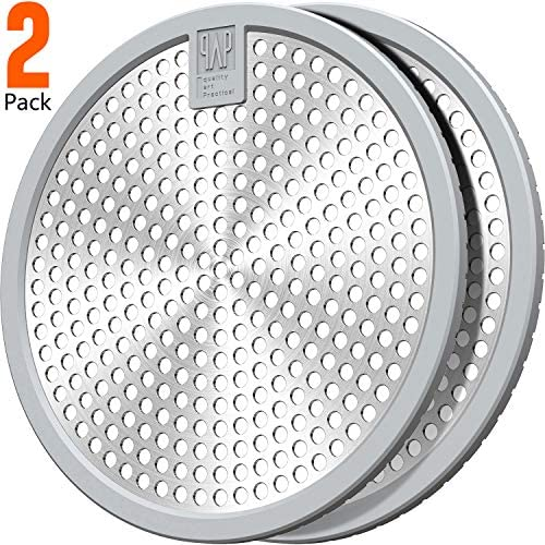 2Pack Stainless Steel Bathtub Drain Hair Stopper Shower hair catcher Drain cover 4.5inch Large size Suit for Bathroom Bathtub and Kitchen Easy Clean(Grey+Grey)