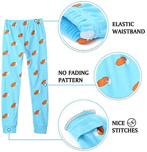 DAUGHTER QUEEN Halloween Pajamas for Boys & Girls, Baby 18M-12 Toddler Kids 100% Cotton Pjs Set Sleepwear
