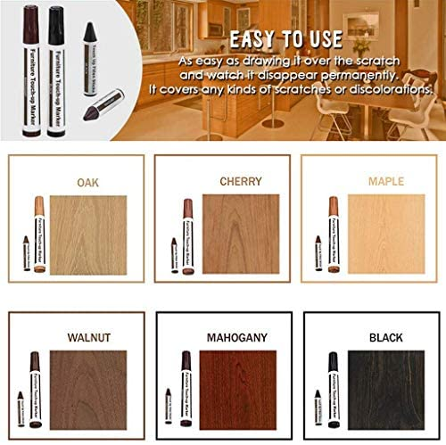 Furniture Repair Kit Wood Markers - Set of 13 - Markers and Wax Sticks with Sharpener Kit, for Stains, Scratches, Wood Floors, Tables, Desks, Carpenters, Bedposts, Touch Ups, and Cover Ups