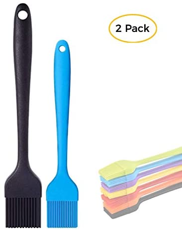 Cashback+PayPall Fee! Silicone Basting Brush 2 Pack, 2 Heat Resistant Long Handle Pastry Brush for Grilling, Baking, BBQ and Cooking, Solid Core and Hygienic Solid Coating-Large and Small