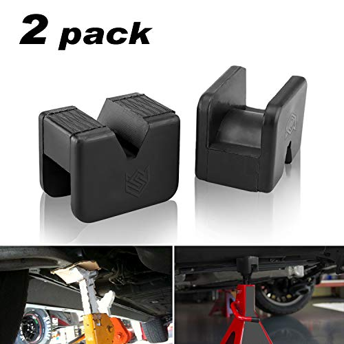 Seven Sparta Jack Pad Adapter for Jack Stand 2-3 Ton Universal Rubber Slotted Frame Rail Pinch welds Protector(2Pack)