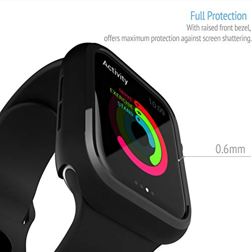 CQ Compatible Apple Watch Case 44mm Series 5/Series 4, Ultra-Thin Anti-Scratch and Shockproof Hard iWatch Cover Protector Bumper for Apple Watch Series 5/4 44mm Case