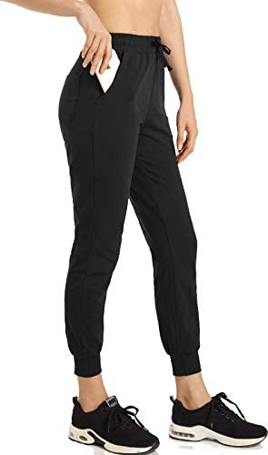 Spowind Women's Joggers Lounge Sweatpants Tapered Yoga Workout Cotton Athletic Track Pants with Pockets