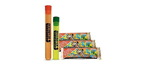 100% Authentic Skunk Brand Rolling Papers Bundled with Two Exclusive Destroyer Plastics Doob Tubes One Large One Small (Hawaiian Skunk 1 1/4, 3)