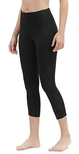 DILANNI High Waist Yoga Capris Workout Leggings Running Pants Casual Tights with Pockets - Non See Through Fabric