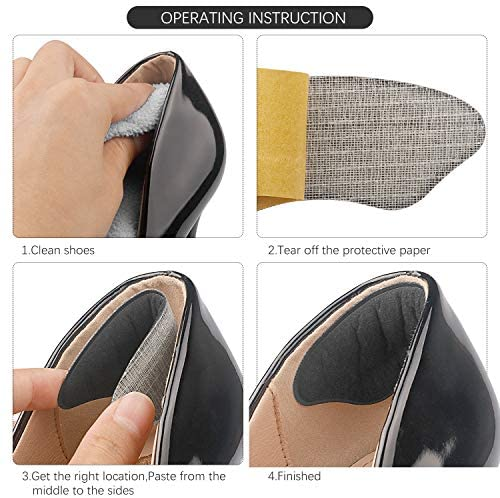 Makryn Premium Heel Grips Liner for Men Women,Back of Heel Cushions Insert Prevent Too Big Shoe from Heel Slipping,Blisters,Filler for Loose Shoe Fit