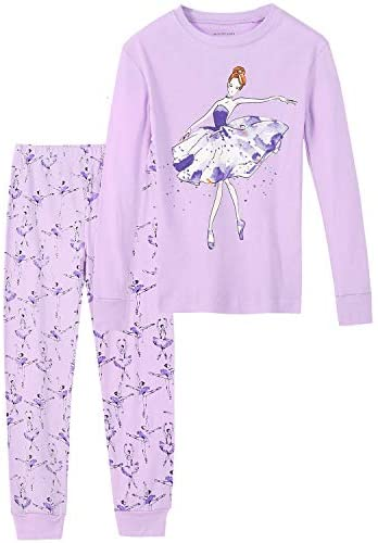 DAUGHTER QUEEN Girls Pajamas Set 100% Cotton Long Sleeve Kids Sleepwear