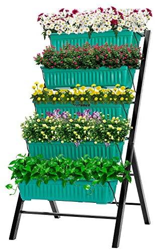 VIVOSUN 4FT Vertical Raised Garden Bed 5 Tier Planter Box Perfect to Grow Flower, Vegetables, Herbs, for Outdoor and Indoor Gardening