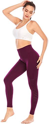 RUNNING GIRL Seamless High-Waist Yoga Leggings, Workout Tummy Control 4 Way Stretch Yoga Pants Compression Leggingsfor Women