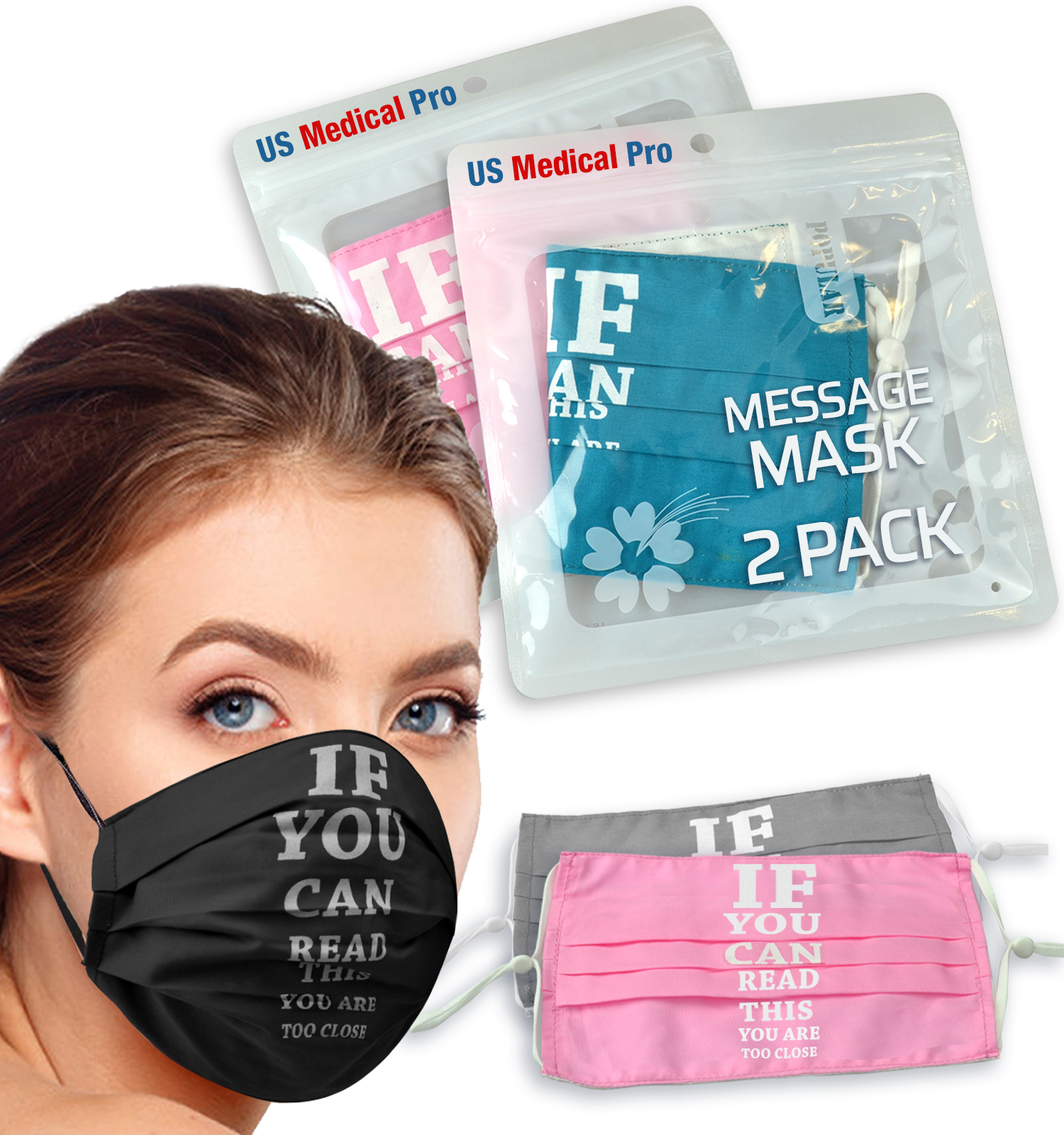 """Re-Usable """"If you can read this"""" Masks"""