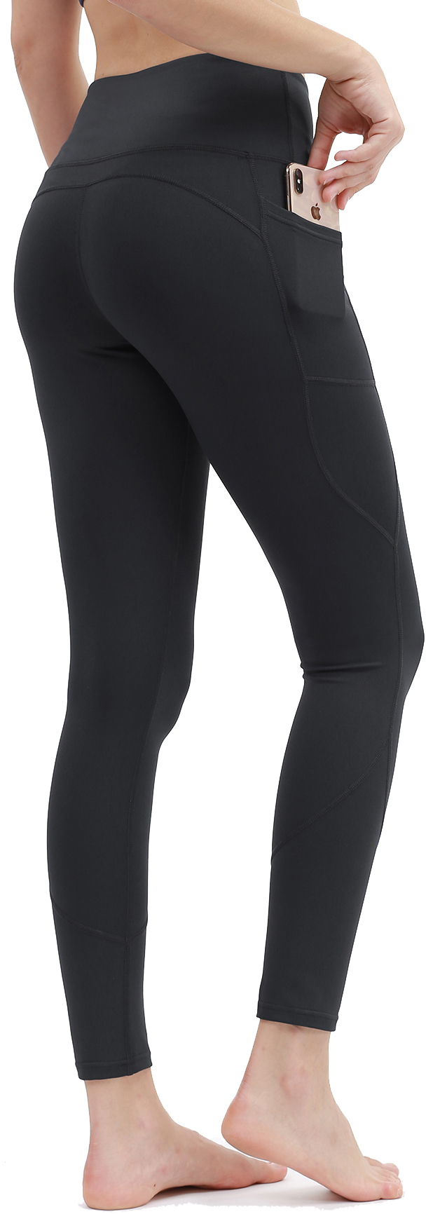 DILANNI High Waisted Leggings for Women with Pockect - Soft Athletic Tummy Control Pants for Running Cycling Yoga Workout