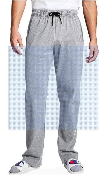 Men's Casual Elastic Waist Pants Loose Fit Drawstring Lounge Trousers