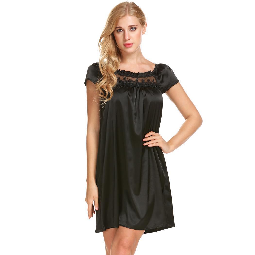 Ekouaer Womens Chemise Wide Strap Sleeveless Nightgown Full Slip Sexy Night Dress Summer Soft Sleepwear