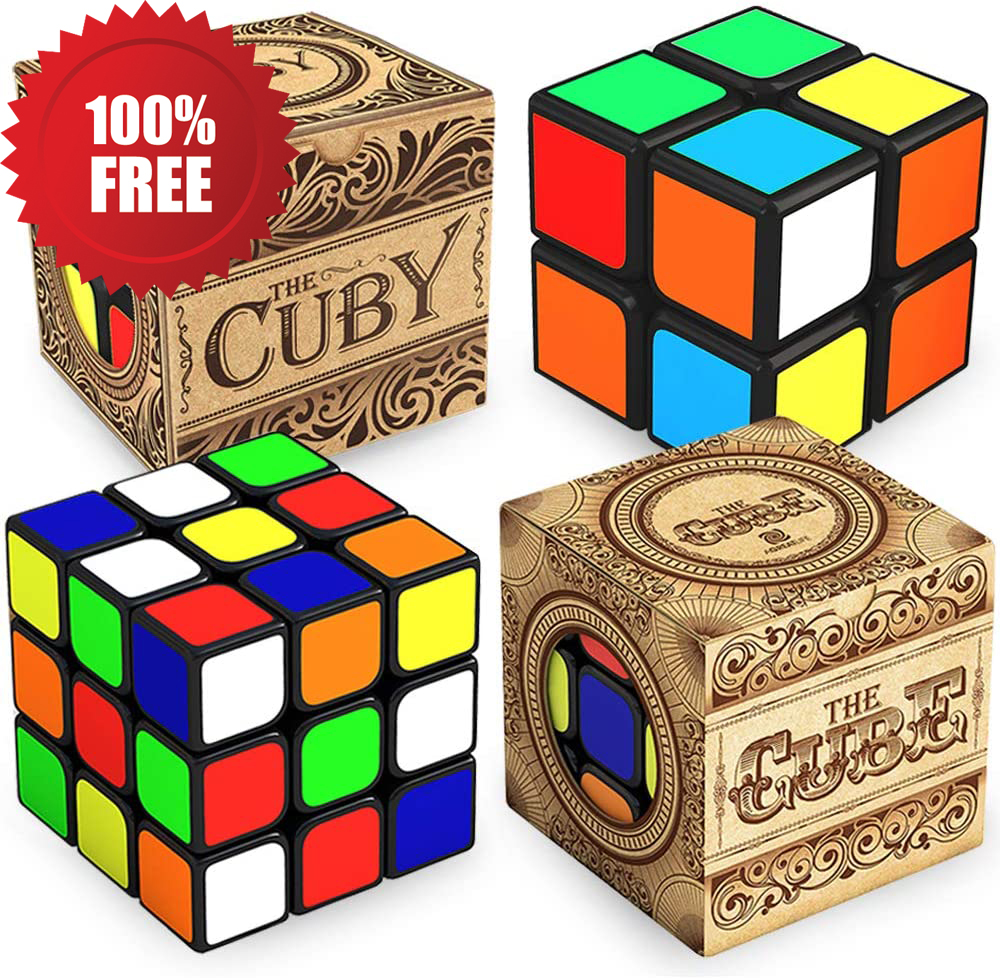 Double The Fun with More Precise Than Original 2x2 and 3x3 Cube Bundle | Speed Cubing for Presents | Challenging and Fun for Kids and Adults ! Easy Turning and Smooth Play
