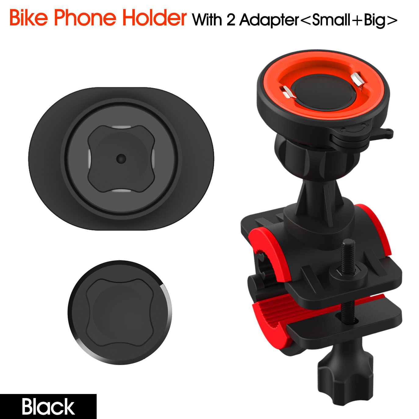 Bike Phone Mount Motorcycle Phone Mount Detachable Adjustable 360° Rotation Bike Phone Holder for Bike Bicycle Handlebars Universal for iPhone 11 Pro Max Xr Xs X 8 Plus, Samsung Galaxy, Google Pixel