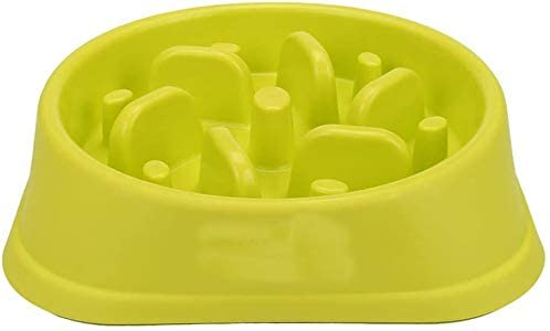 Mamilafe Slow Feeder Dog Bowl No Choking Stop Bloat Interactive Puzzle Dog Bowl Healthy Diet for Dogs/Cats, Green