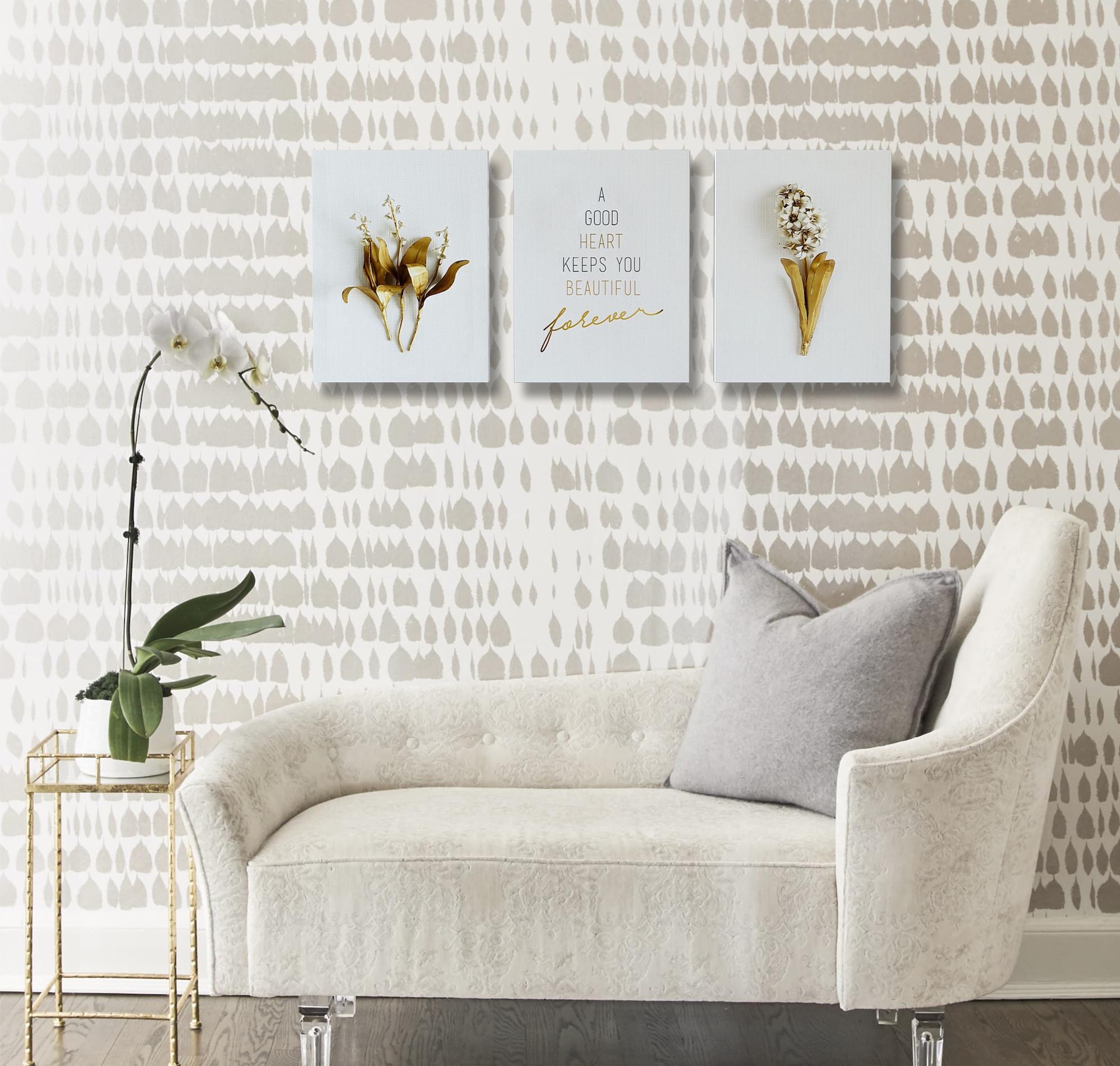 EnjoyTheLittleThings Canvas Wall Art Prints - Bedroom Home Living Room Office Kitchen Decorations - Modern Artwork Motivational Phrases [Set of 3]