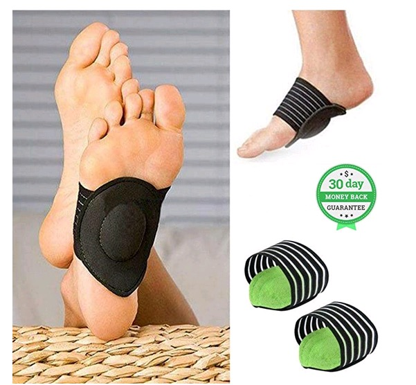 1 Pair Relief Achy Pain Foot Cushioned Arch Support Protect Foot Sole Angel Cute Gift - Green
