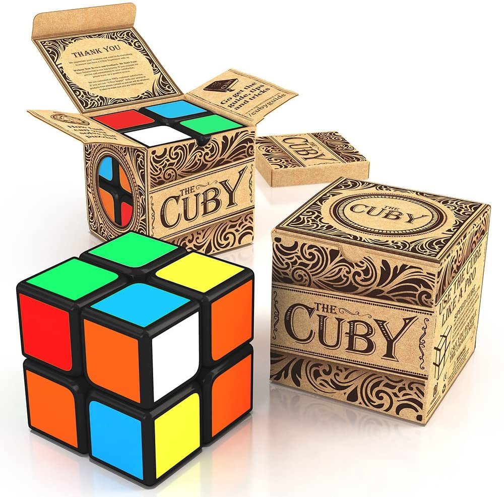 Original Smooth Puzzle Cube - A Challenging 2x2x2 Speed Cubing Toy, That Keeps Your Brain Sharp with Excitement and Fun from aGreatLife's Cube 2x2 | with a Classic Packaging Design for Kids and Teens