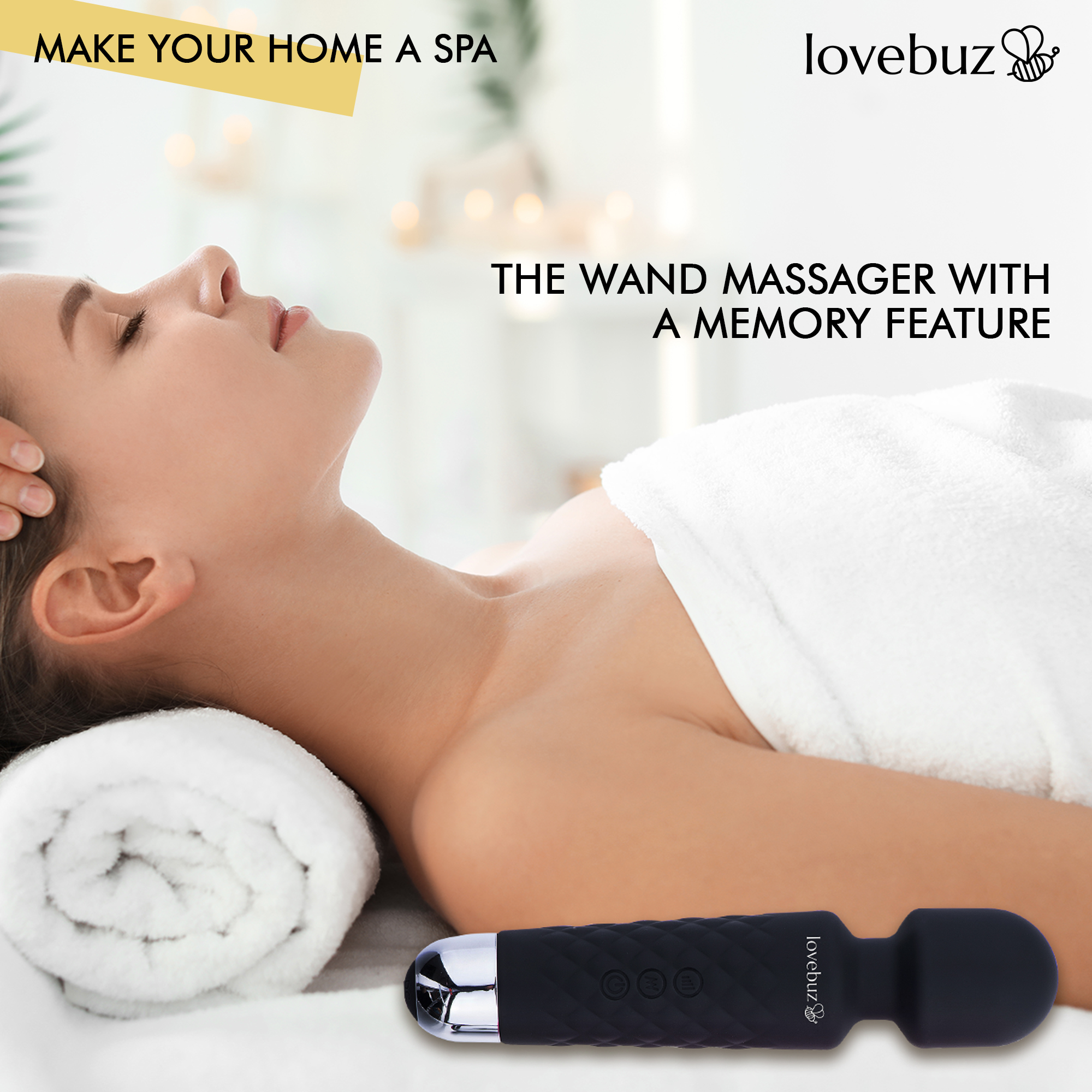 🐝 lovebuz 🐝 Personal Massager Wand with 20 Vibration Patterns...Make Your Home A Spa