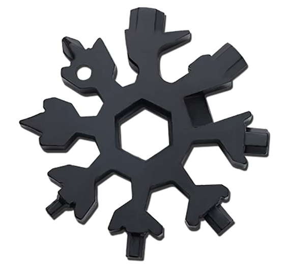 Easy N Genius - FEX 18-in-1 Stainless Steel Snowflakes Multi-Tool (Black) 19 In 1 Incredible Tool