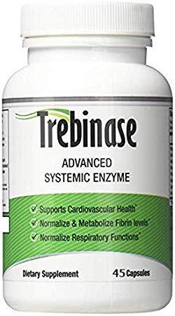 SAVE 100% on Trebinase 320,000 FU's Per Capsule (45 capsule) Advanced Systemic Enzyme Blend of Serrapeptase, Nattokinase & Seaprose Plus Co-Enzymes - Dissolve Scar Tissue Quickly.- 99.99% Pure Pharmaceutical Grade Enzymes