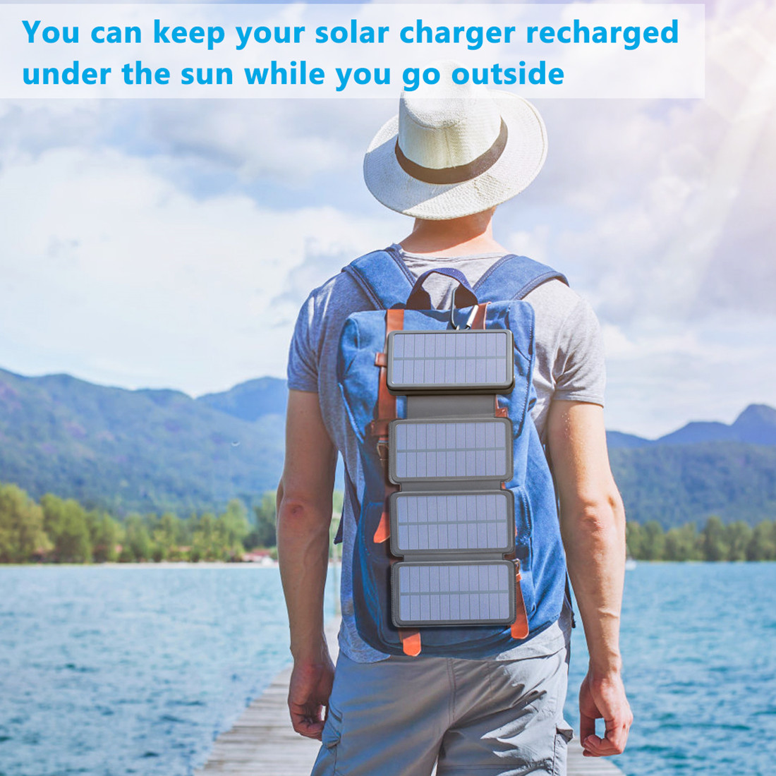 Tranmix Solar Charger 25000mAh Power Bank with USB-C Port Waterproof Portable Phone Charger for Smart Phones, Tablets and More