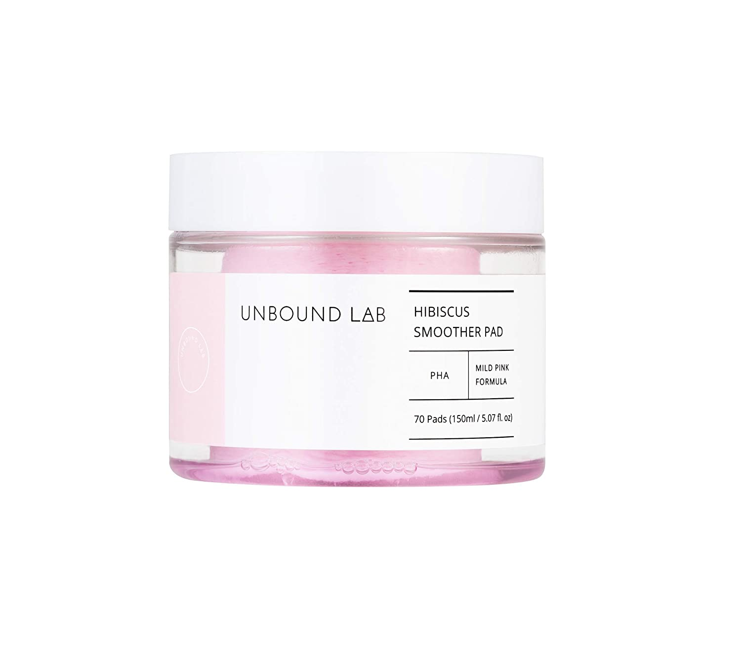 UNBOUND LAB Hibiscus Smoother Pad 70 Pads 150ml - Daily Peeling Treatment Pads with 88% Hibiscus Flower Extract, Kbeauty Skincare
