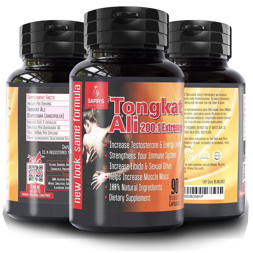 Tongkat Ali Longjack MALE ENHANCEMENT Supplement - Natural 3000mg Daily Maximum Muscle Strength 200:1 Root Extract - Testosterone Booster, Male Drive, Blood Flow, Stamina, Hormone Booster 90 Veggie Capsules