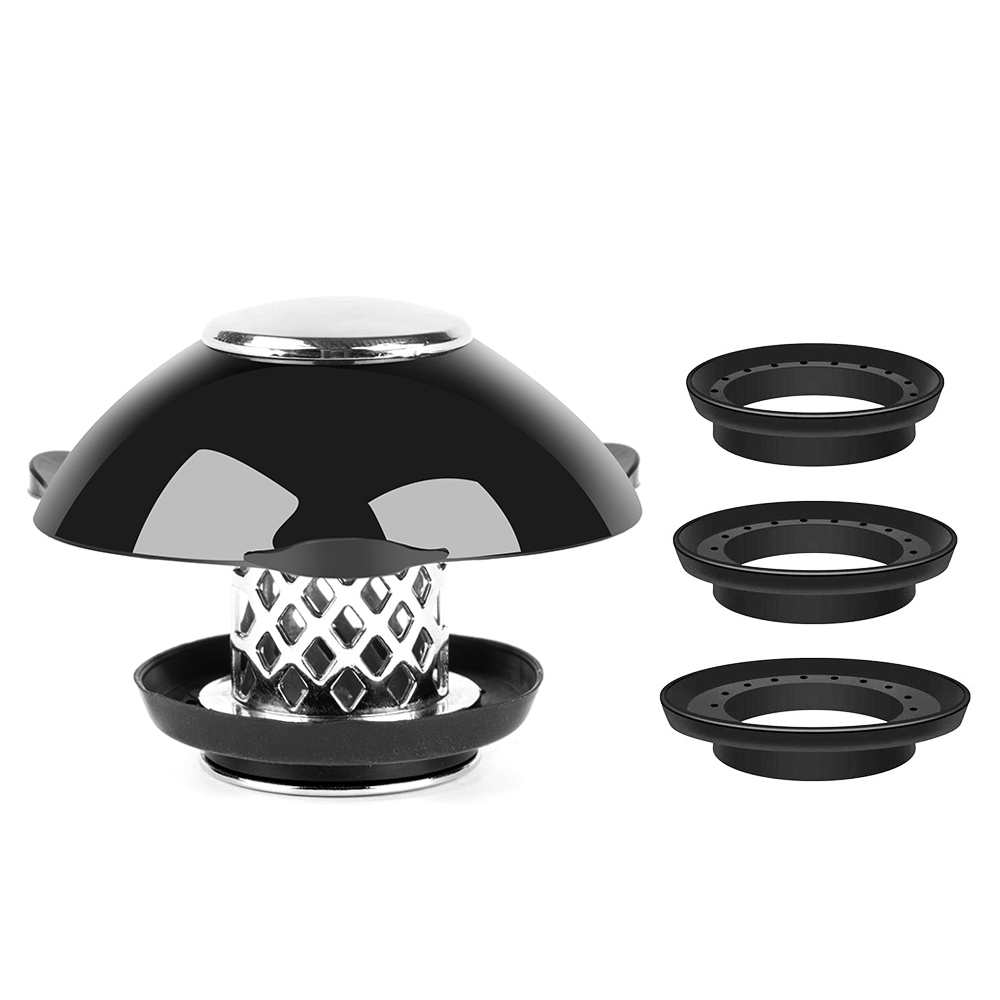 Drain Hair Catcher with Bathtub Stopper - NEW 2-in-1 Bathtub Drain Cover Prevent Hair Clogs