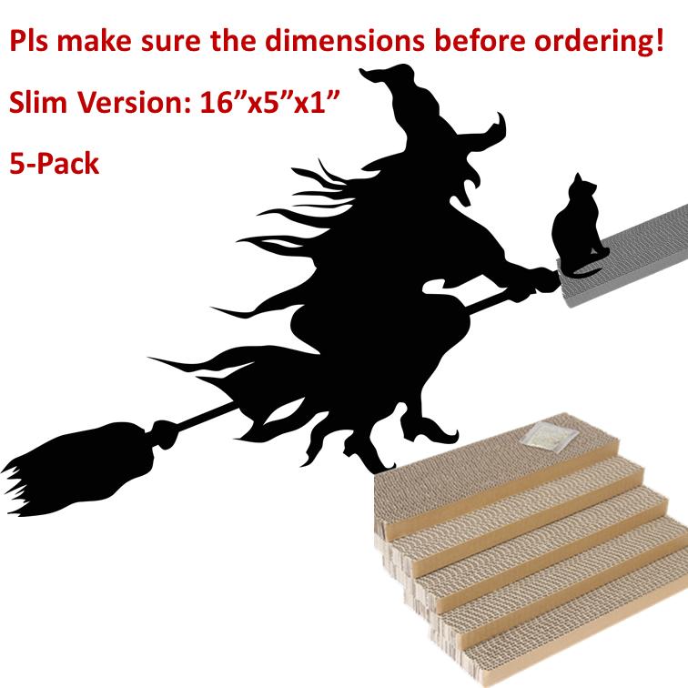ShioSel, Cat Scratcher Cardboards Scratching Pads, Catnip Included, Slim, 16x5x1 inch, 5-Pack