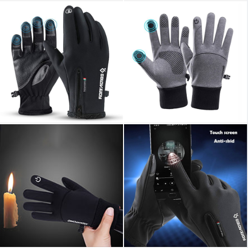 DHSO Winter Gloves for Men Women Touch Screen Non-Slip Cycling Gloves Windproof Waterproof Cold Weather Warm Bike Gloves Thermal Gloves for Running,Driving,Hiking,Mountaineering
