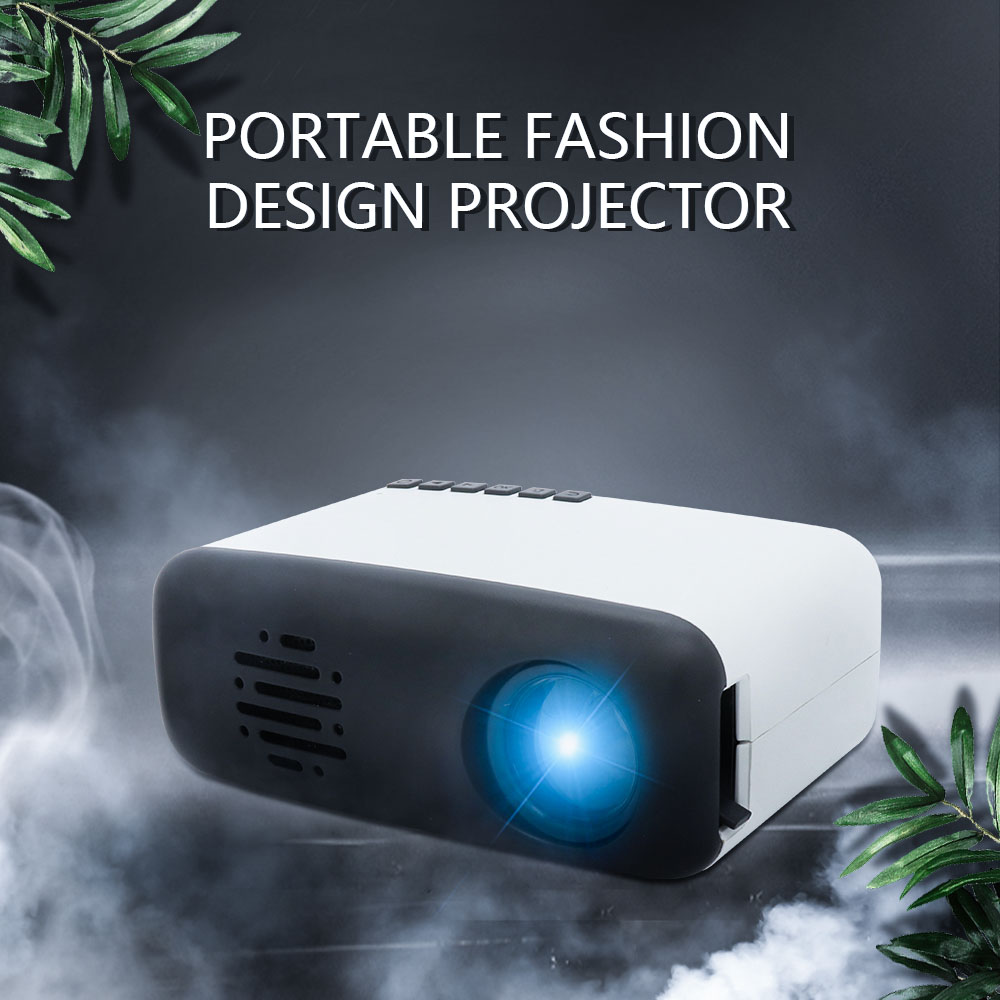 Mini Video Movie Projector,iRULU Portable Home Theater Palm Size Projector with HDMI VGA AV Headphone for Kids Children Education (Black, Siz2)