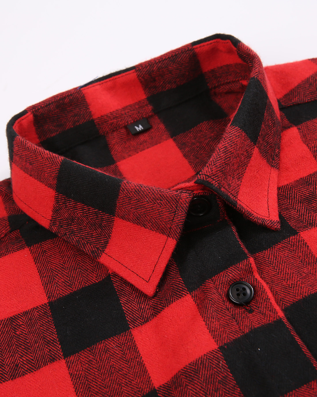 Flannel Shirt Womens Plaid Long Sleeve Regular Fit Button Down Casual Cotton